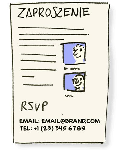 Zaproszenie rejestracja na spotkanie konferencję
