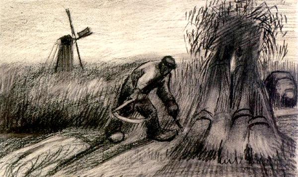 Szkic van Gogh'a, Źrodło: wikimedia, Licencja: domena publiczna.